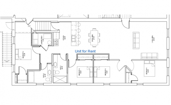 Suite G Floor Plan landscape version